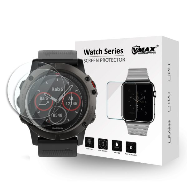 VMAX Garmin Fenix 5 Smart Watch Tempered Glass Screen Protector