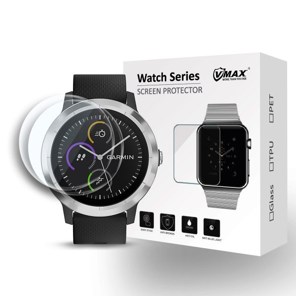 VMAX Garmin Vivoactive 3 Smart Watch Tempered Glass Screen Protector
