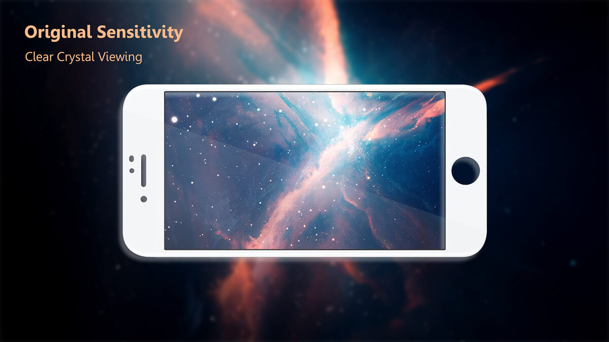 VMAX Apple iPhone 8/8 Plus 3D Curved Full Cover Tempered Glass Screen Protector (White)