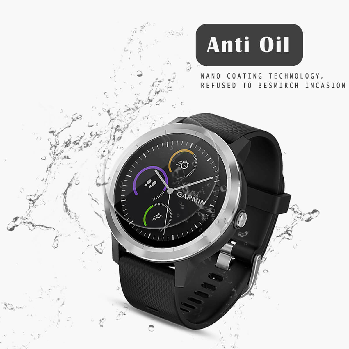 VMAX Garmin Vivoactive 3 Smart Watch Tempered Glass Screen Protector