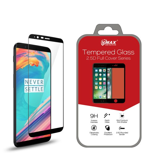 VMAX OnePlus 5T 2.5D Full Cover Tempered Glass Screen Protector