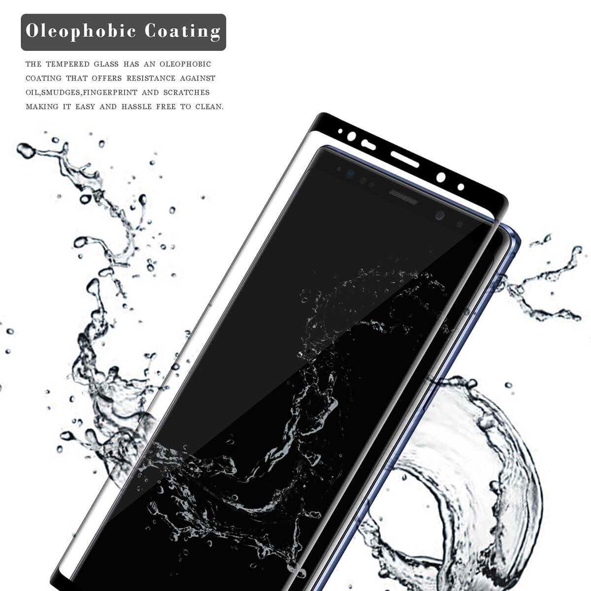 VMAX Samsung Galaxy Note 9 3D Full Cover Tempered Glass Screen Protector (Black)