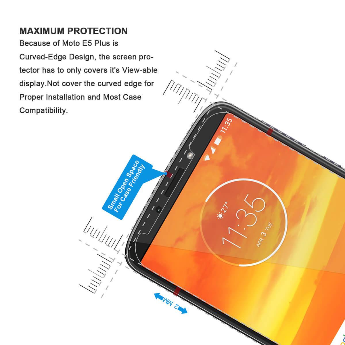 VMAX Motorola Moto E5/E5 Plus HD Clear Tempered Glass Screen Protector