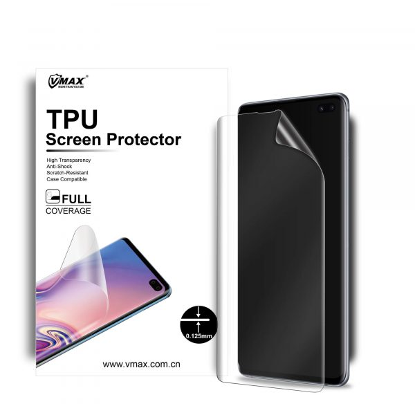 VMAX Samsung Galaxy S10 Plus/S10+ (2019) Full Screen Cover TPU Soft Film Screen Protector