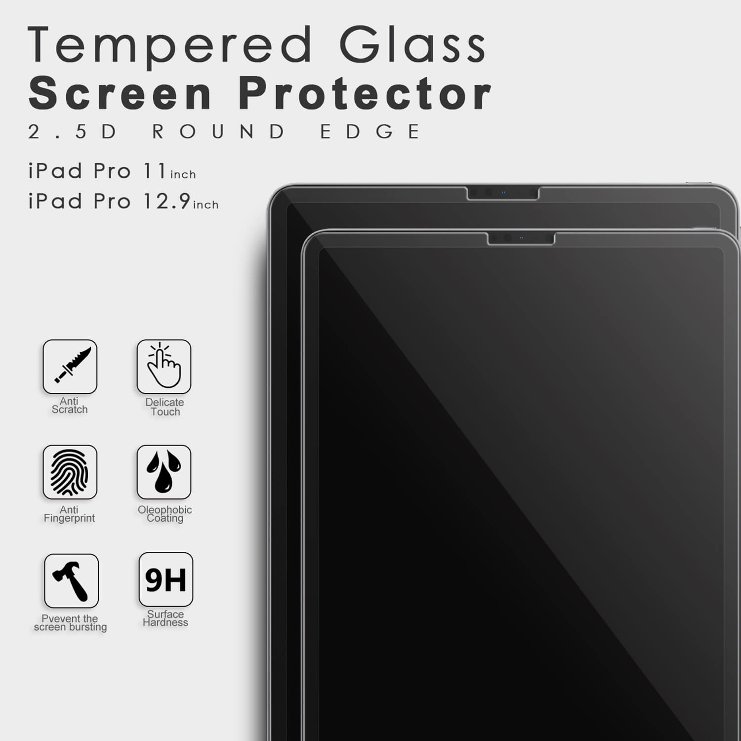 Premium Tempered Glass Clear Screen Protector for Apple iPad Pro Retina