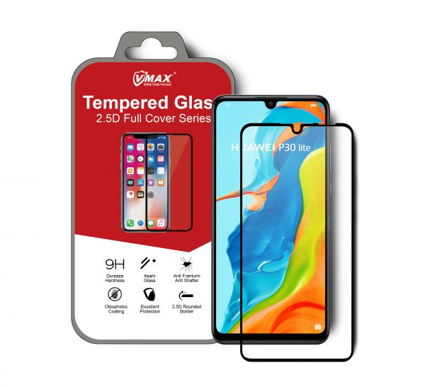 VMAX Huawei P30 Lite 2.5D Full Cover Tempered Glass Screen Protector