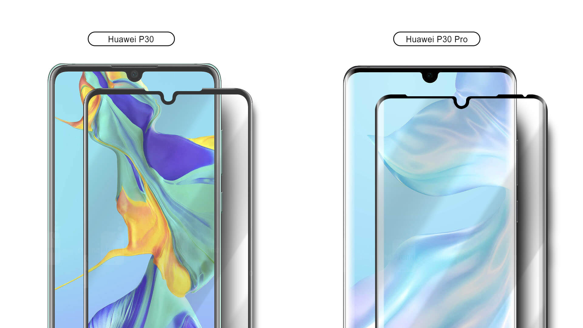 VMAX Huawei P30 3D Full Cover PremiumTempered Glass Screen Protector