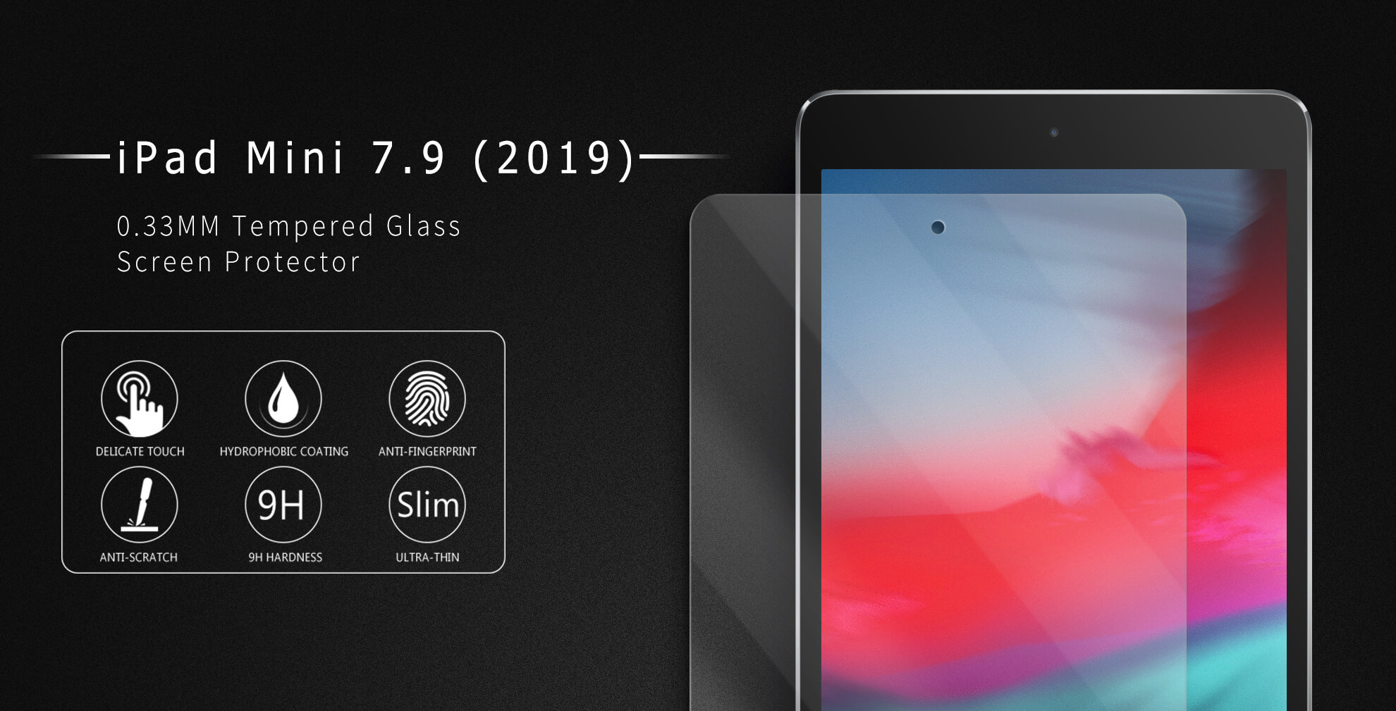 VMAX iPad mini 2019 7.9 inch 2.5D HD Clear Tempered Glass Screen Protector